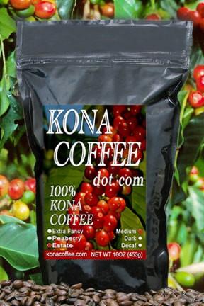 Bag of 1 lb. Medium Roast Kona Coffee