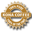 100% Pure Kona Coffee label