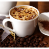 Fresh brewed Kona Coffee in the cup with fresh roasted beans
