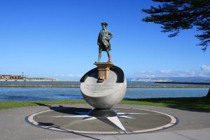 Captain James Cook's statue in New Zealand Discovery of Hawaii